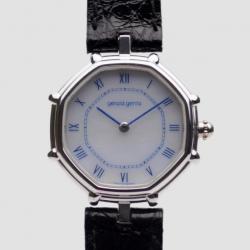 Gerald Genta Octagon 18K White Gold Mens Wristwatch 34 MM