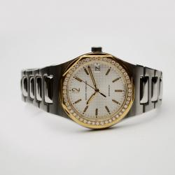 Girard Perregaux Laureato 18K Gold SS Diamonds Mens Wristwatch 38 MM