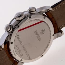 Girard Perregaux Ferrari 300 SS/ Leather Chronograph Mens Wristwatch 40 MM