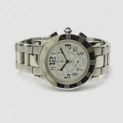 Givenchy White Stainless Steel Chronograph Saqqhara Mens Wristwatch 40 MM