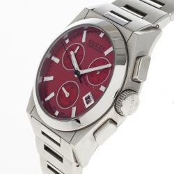 Gucci Red Stainless Steel Pantheon Men's Watch 36MM