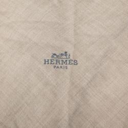 Hermes Cream Scarf