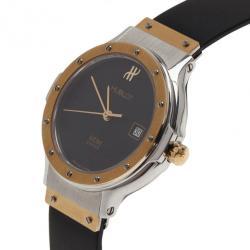 Hublot Black 18K Rose Gold SS Classic Womens Wristwatch 32 MM