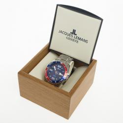 Jacques Lemans Haiti Sports 1-1465C Stainless Steel Quartz Blue Mens Wristwatch 46 MM