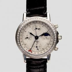 Jean Marcel White Diamond Chronograph C.I Mens Wristwatch 40 MM