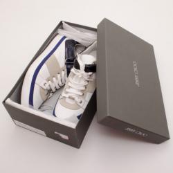 Jimmy Choo White Motcombe Sneakers Size 44.5