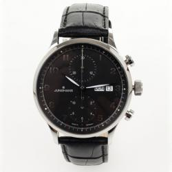 Junghans Arthur Attaché SS Leather Chronograph Mens Wristwatch 40 MM