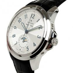 Junghans Silver Stainless Steel MoonPhase Men's Wristwatch 42MM