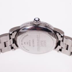 Montblanc White Stainless Steel Star Men's Wristwatch 40 MM