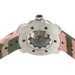 Nubeo Camo-Jellyfish SS Womens Diving Womens Watch 36 MM