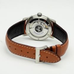 Perrelet Brown Leather Air Zermatt Black Mens Wristwatch