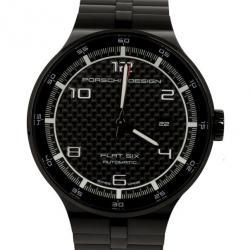Porsche Design Stainless Steel P6350 Flat Six Mens Wristwatch 44MM