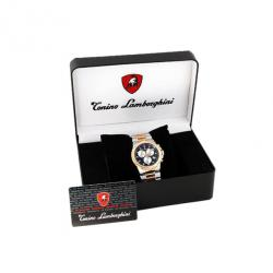 Tonino Lamborghini Gold Plated SS Black Mens Wristwatch