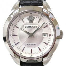 Versace Silver Stainless Steel Character Men's Wristwatch 42MM
