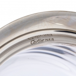 Cartier Silver 925/3-Tone Gold Small Glass Container
