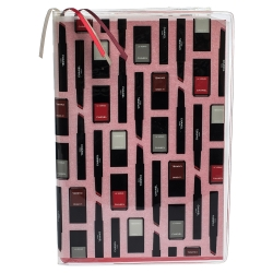 Chanel Notebook with Makeup Print Zip Pocket Cover