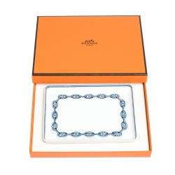 Hermes Blue & White Porcelain Chain d'Ancre Tray
