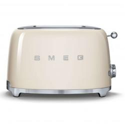 Smeg 50's Retro Style Aesthetic 2 Slice Toaster, Cream (Available for UAE Customers Only)