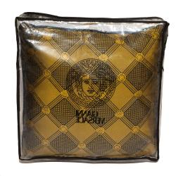 Versace Medusa Yellow & Black Cotton & Velvet Cushion