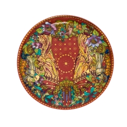 Rosenthal Meets Versace Red Le Reve De Noel Porcelain Mug And Saucer Set