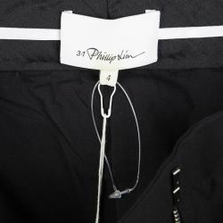 3.1 Phillip Lim Black Cropped Flared Trousers S