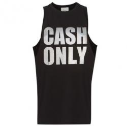 "3.1 Phillip Lim Black ""Cash Only"" Logo Tank L"