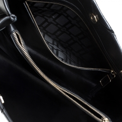 Roger Vivier Black Leather Prismick Tote