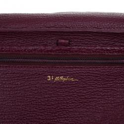 3.1 Phillip Lim Purple Leather Large Pashli Tote