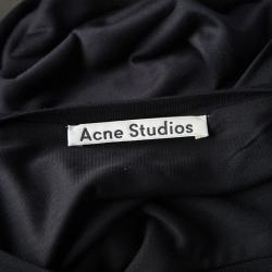 Acne Studios Black Tencel Jersey Asymmetric Ordelia Dress L