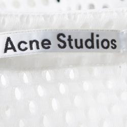 Acne Studios Off White Oversized Avre Mesh Top S