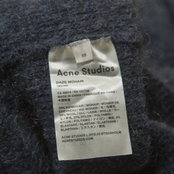 Acne Studios Grey Mohair Blend Folded Off Shoulder Sweater XS