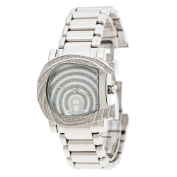 4b839ba0f Aigner Mother of Pearl Stainless Steel Genua Due A31600 Women's Wristwatch  31 mm