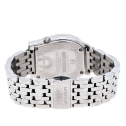 Aigner Silver Stainless Steel Diamonds Ravenna Nuovo A25400 Wristwatch 30 mm