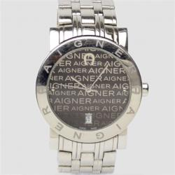 Aigner Grey Stainless Steel Womens Wristwatch 40 MM