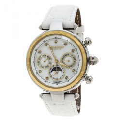 Akribos XXIV White Mother of Pearl Stainless Steel Classic AK441WT Women's Wristwatch 39 mm