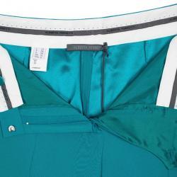Alberta Ferretti Turquoise SS 2013 Satin Wide Leg Pants M
