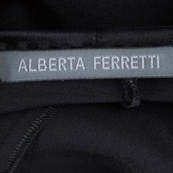 Alberta Ferretti Black Silk Studded Shoulder Detail Sleeveless Maxi Dress M