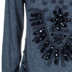 Alberta Ferretti Cashmere Embellished Sweater L