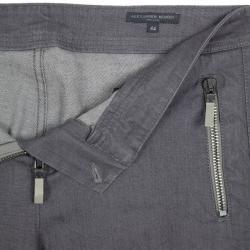 Alexander McQueen Grey Denim Zip Biker Jeans L