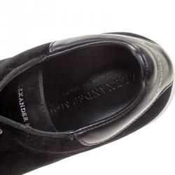 Alexander McQueen Black Velvet Sneakers Size 37