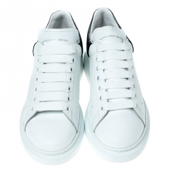 Alexander McQueen White Leather Lace Up Sneakers Size 39