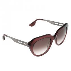 Alexander McQueen Burgundy MCQ 0017/S Cat Eye Sunglasses