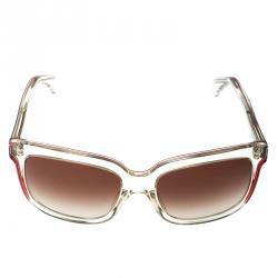 Alexander McQueen White Transparent/Brown Gradient AMQ4213/S Wayfarer Sunglasses