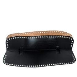 70999e03b حزام كورسيه أليكساندر ماكوين جلد أسود مزين حلقات 90 سم