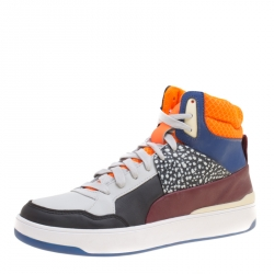 b5a46de6b729 Alexander McQueen For Puma Multicolor Leather Brace High Top Sneakers Size  38