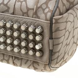 Alexander Wang Grey Textured Leather Rocco Top Handle Bag