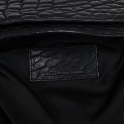 Alexander Wang Black Diego Textured-Leather Bucket Bag