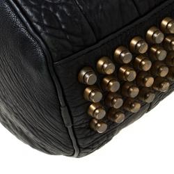 حقيبة أليكساندر وانغ روكو دوفل جلد منقوشة سوداء