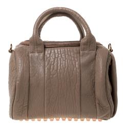 Alexander Wang Brown Textured Leather Rocco Duffel Bag