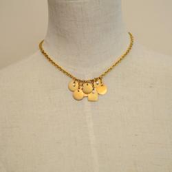 Alfieri & St. John Diamond & Gold Geometric Charms Necklace